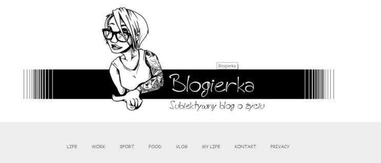 Jak wygląda strona Blogierka